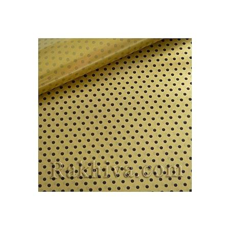 Двустранен целофан за цветя, Точки/ злато, черно (50/50/1313200)