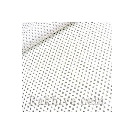 Двустранен целофан за цветя, Точки/ бяло, сребро (50/50/131310)