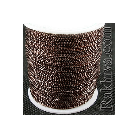 Шнур за украса, за декорация, , кафяво (0.8 мм) (08/100/7634)