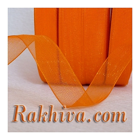 Тъкани панделки Органза, 1 ролка 6 mm/20 метра оранжево  (6/20/2275)