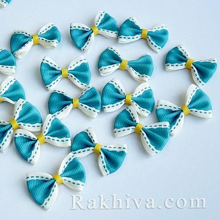 Готови панделки релефен сатен, светло синьо, 10 бр. (WOVE-R054-06)