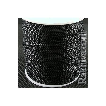 Шнур за украса, за декорация, черно (0.8 мм, 100 м) (08/100/7620)
