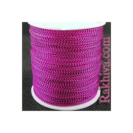 Шнур за украса, за декорация, циклама (0.8 мм, 100 м) (08/100/7645)