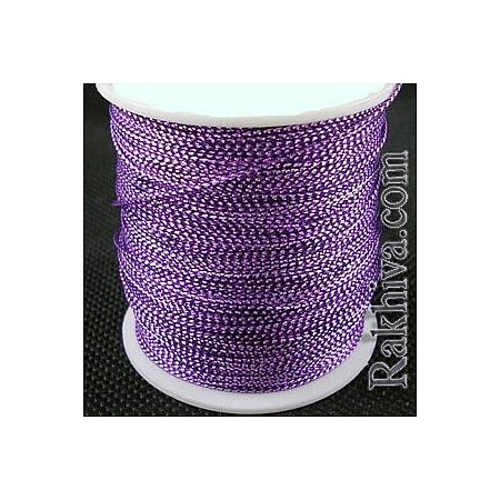 Шнур за украса, за декорация, лилаво (0.8 мм, 100 м) (08/100/7690)