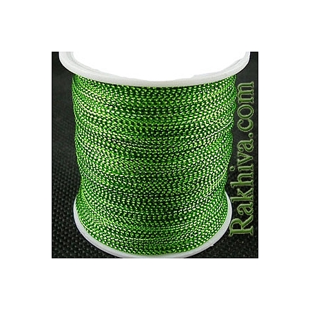 Шнур за украса, за декорация, зелено (1.00 мм, 23 м) (08/23/766)
