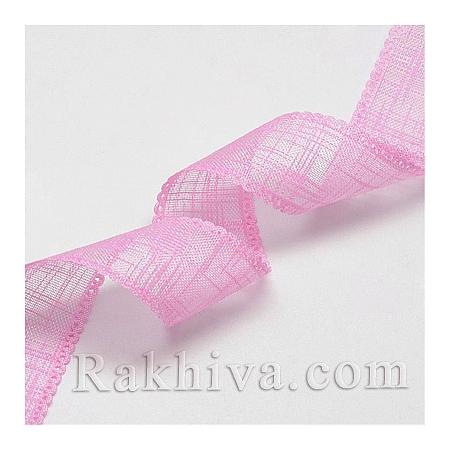 Натурална панделка (коноп), розово 23ммX5м (23/5/OCOR-Q032-23mm-07)