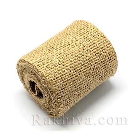 Натуралнa панделкa ЛЕН, 65мм/ 2.7м (DIY-S003-09-6.5cm)
