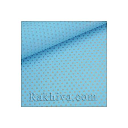 Двустранен целофан за цветя, Точки/ небесно синьо, сребро  (50/50/131352)