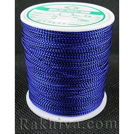 Шнур за украса, за декорация, тъмно синьо (0.8 мм, 100 м) (08/100/7655)