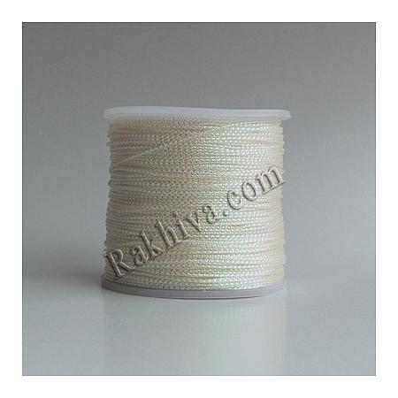 Шнур за украса, за декорация, бяло (0.8 мм, 100 м) (08/100/7610)
