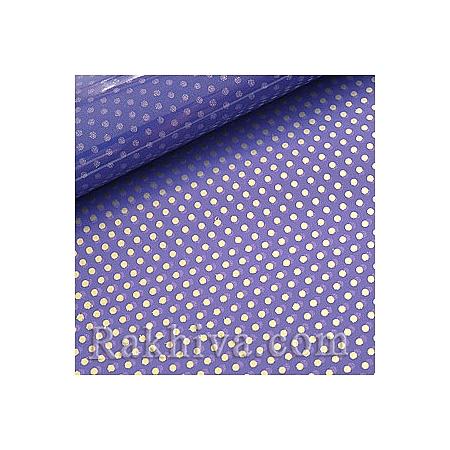 Двустранен целофан за цветя, Точки/ тъмно лилаво, сребро (50/50/131395)