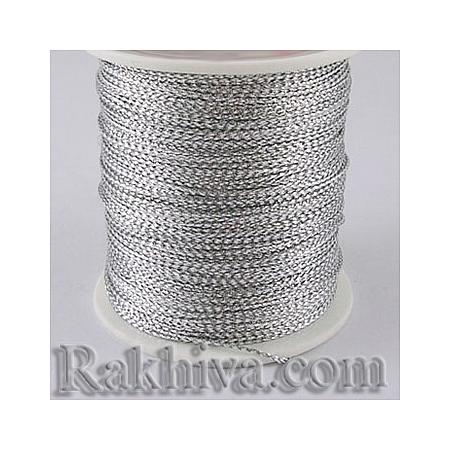 Сребърен шнур за украса, за декорация, сребро (0.8 мм) (08/100/76300)