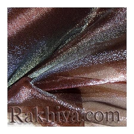 Органза тъмен шоколад, 47 см/ 10ярда, шоколад (49/10/3632)
