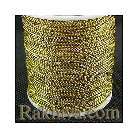 Златен шнур за украса, за декорация, злато (0.8 мм) (08/100/76200)