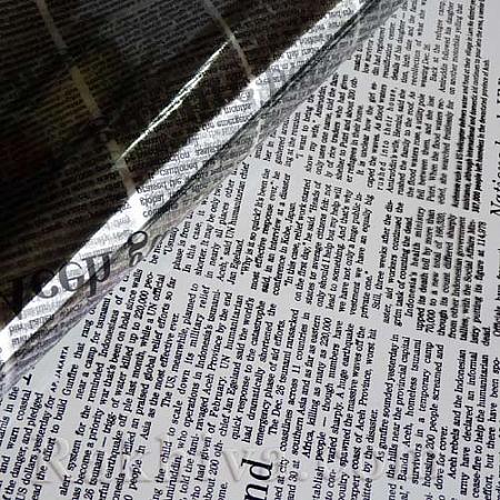Целофан за цветя, Вестник/ черно (50/50/91320)