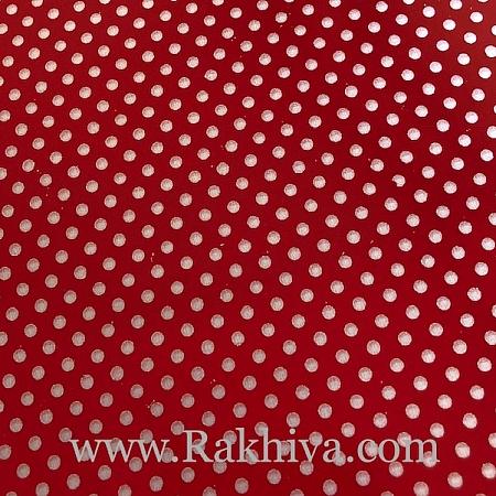 Двустранен целофан за цветя, Точки/ червено, сребро  (50/50/131380-300)