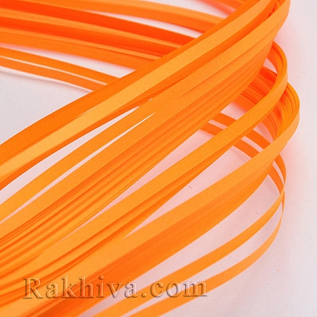 Квилинг лентички оранжево, 3мм/ 390мм (DIY-J001-3mm-B20)