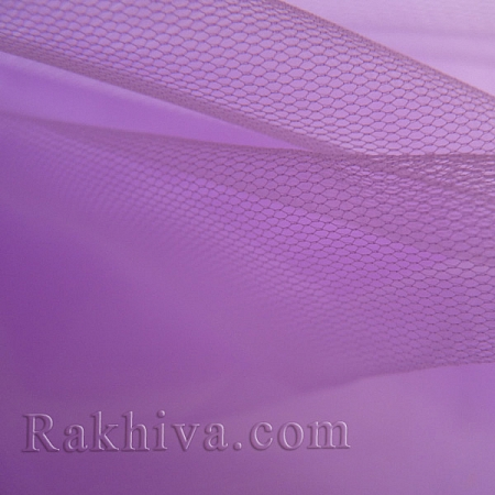 Италиански тюл цвят люляк, люляк за 1 линеен м (3 кв. м) 86/91