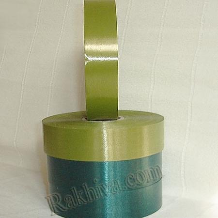 Панделки чисти цветове, 1 ролка 3см/ 100 ярда 26 3/100/2862 (войнишко зелено)