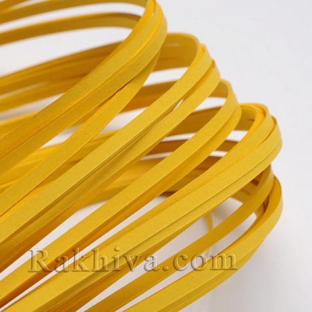 Квилинг лентички тъмно злато, 3мм/ 390мм (DIY-J001-3mm-B19)