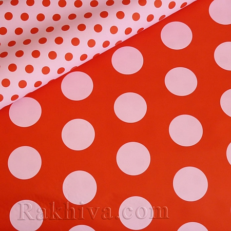 Италиански целофан Точки (червено, розово), 100 см х 100 см (листи) (100/100/1/80-40)