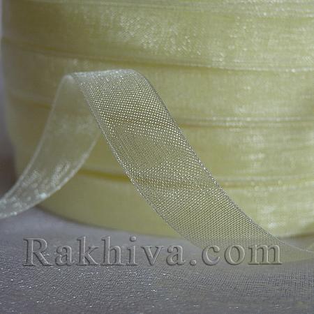 Тъкани панделки Органза, 1 ролка 1 cm/ 50 ярда шампанско (10/50/2213)