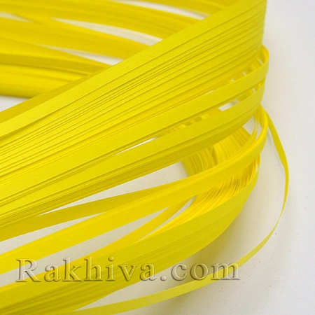 Квилинг лентички жълто, 3мм/ 390мм (DIY-J001-3mm-B16)