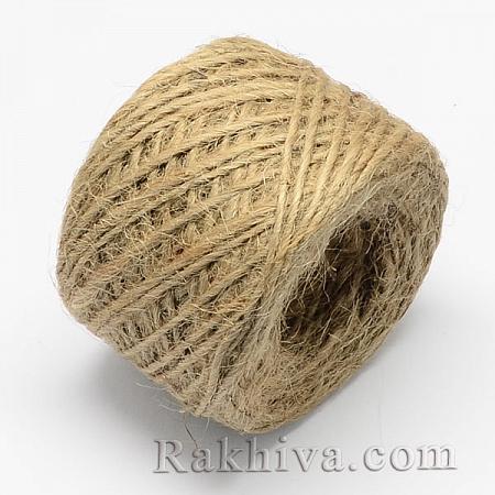 Канап, натурален шнур, 2 мм/ 25 м (натурален)
