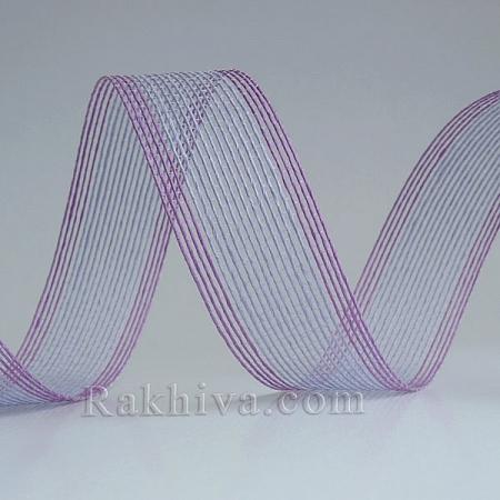 Тъкана хартиена панделка, св.лилаво, т.лилаво (30/15/2490-95)