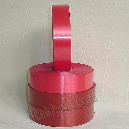 Панделки чисти цветове, 1 ролка 2см/ 100 ярда 2/100/2880 (червено)