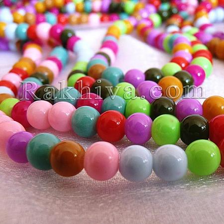 Перли (изкуствени) за изработка на бижута, за декорация, за украса - микс цветове