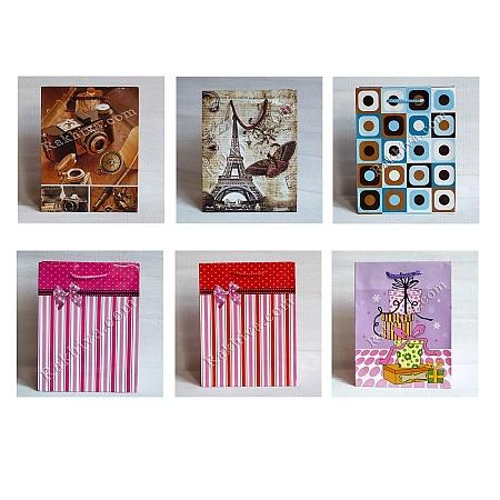 Ламинирани хартиени торбички Ракхива ПАКЕТ МИКС, 17,8x22,9x9,8 cm, средни
