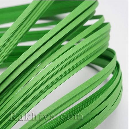 Квилинг лентички зелено, 3мм/ 390мм (DIY-J001-3mm-B14)