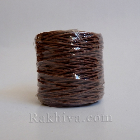 Хартиен шнур, тъмно кафяво (1/25/6434) ролка 22,50м