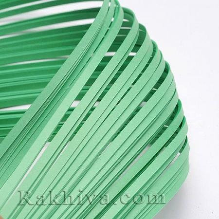 Квилинг лентички светло зелено, 3мм/ 390мм (DIY-J001-3mm-B12)
