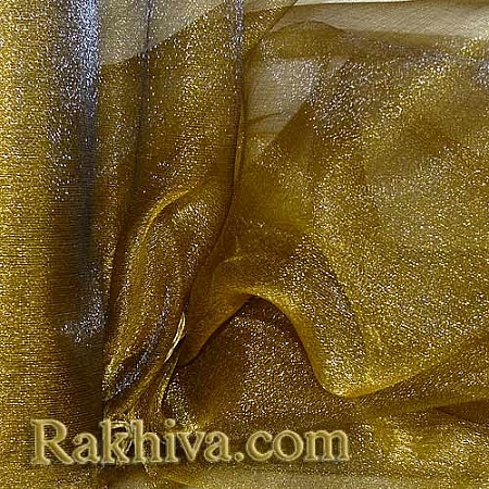 Органза злато, 36см/ 10ярда, злато (36/10/36200)