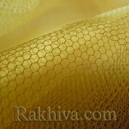 Сватбен тюл - злато, злато (84/200) (за 1 л. м)