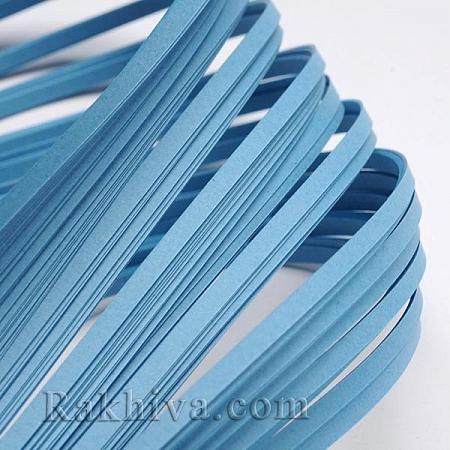 Квилинг лентички светло синьо, 3мм/ 390мм (DIY-J001-3mm-B09)