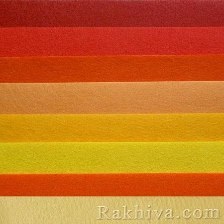 Филц, 7/ (640) патешко жълто - мек филц