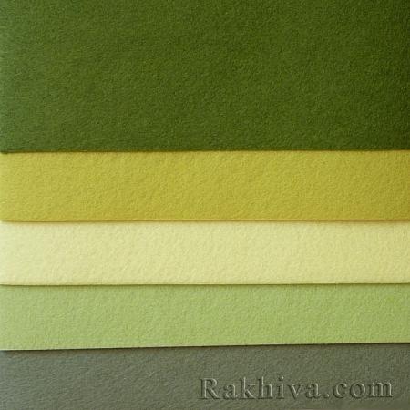 Филц, 6/ (672) тъмно зелено - мек филц