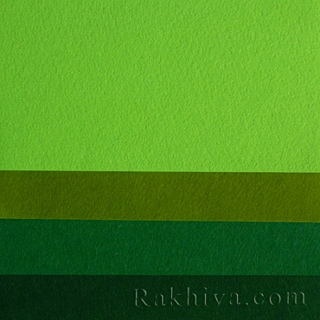 Филц, 5/ (670) зелено - мек филц