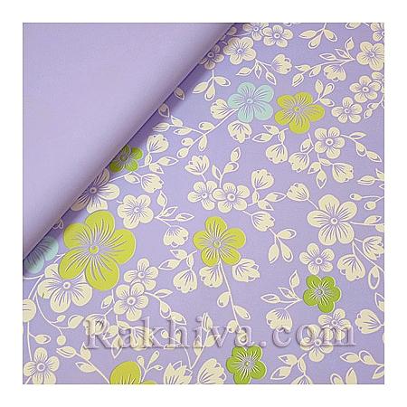 Италиански целофан Цветя (лилаво), 100 см х 100 см (листи) (100/100/4/90)