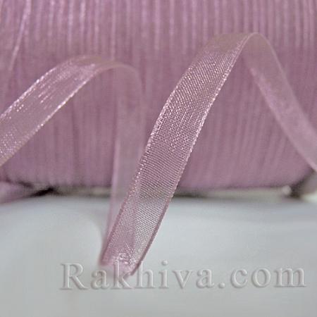 Тъкани панделки Органза, 1 ролка 6 mm/20 метра пепел от рози (6/20/2249)