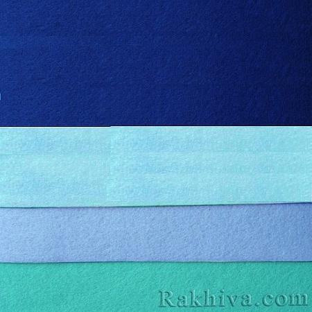 Филц, 3/ (679) тъмно синьо - мек филц