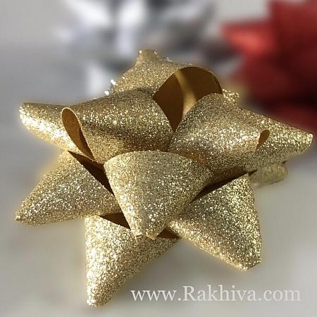 Готови панделки звездички Брилянт, злато (10мм/ 36 бр)