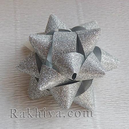 Готови панделки звездички Брилянт, сребро (10мм/ 36 бр)