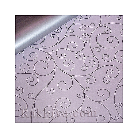 Целофан Спирали, 100 см х 100 см (св. розово, сребро) (100/100/11/40-300)