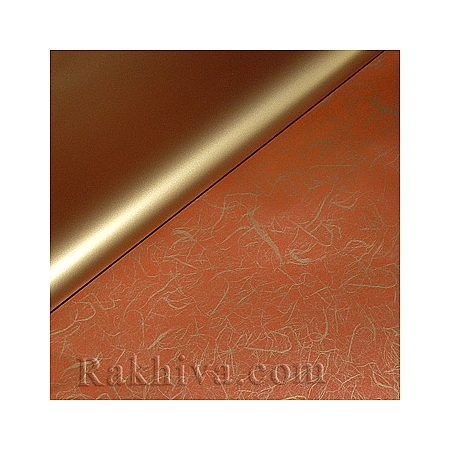 Целофан Идеи, 100 см х 100 см (злато, червено) (100/100/12/200-80)