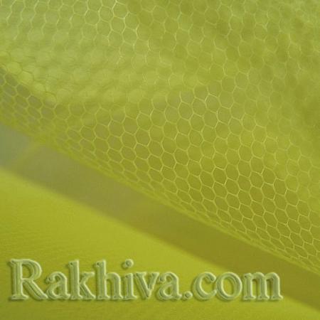 Сватбен тюл - светло жълто, жълто (84/70) (за 1 л.м.)