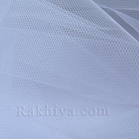 Сватбен тюл - бяло, бяло (84/10)(за 1 л. м)